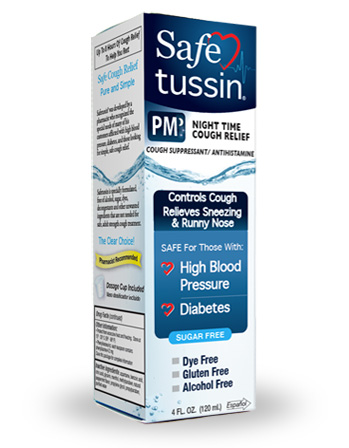 Safe Tussin PM Product Packaging